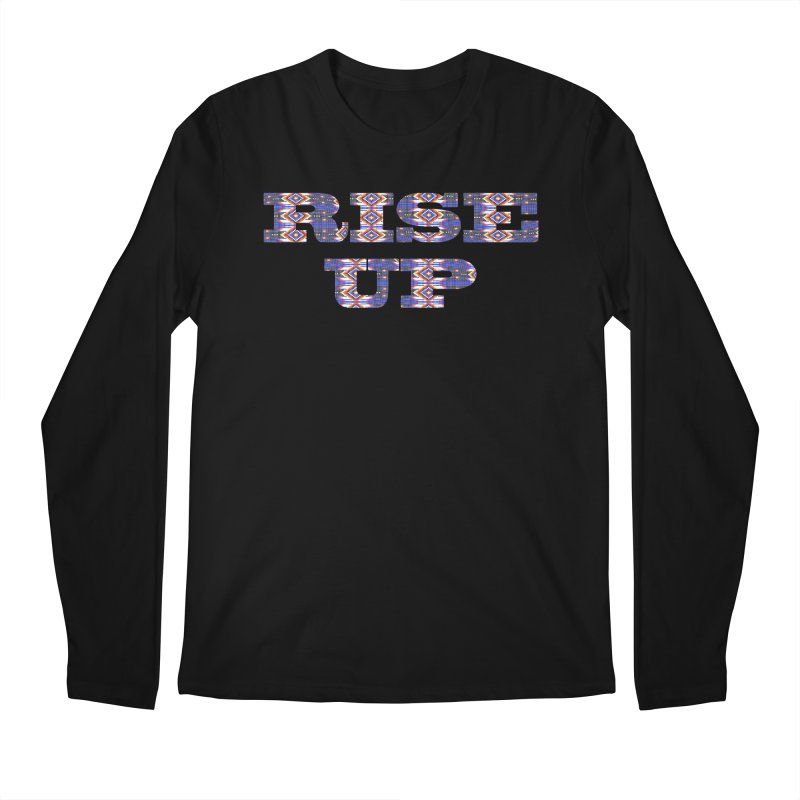 RISE UP Men's Regular Longsleeve T-Shirt by Shawnee Rising Studios