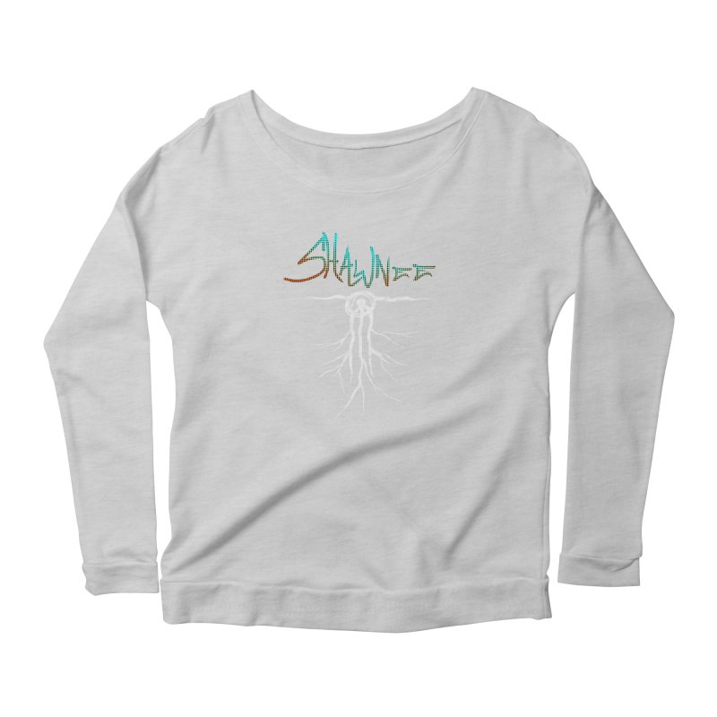 Our Roots Women's Scoop Neck Longsleeve T-Shirt by Shawnee Rising Studios
