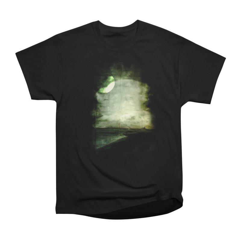 Precipice Men's Heavyweight T-Shirt by Shawnee Rising Studios