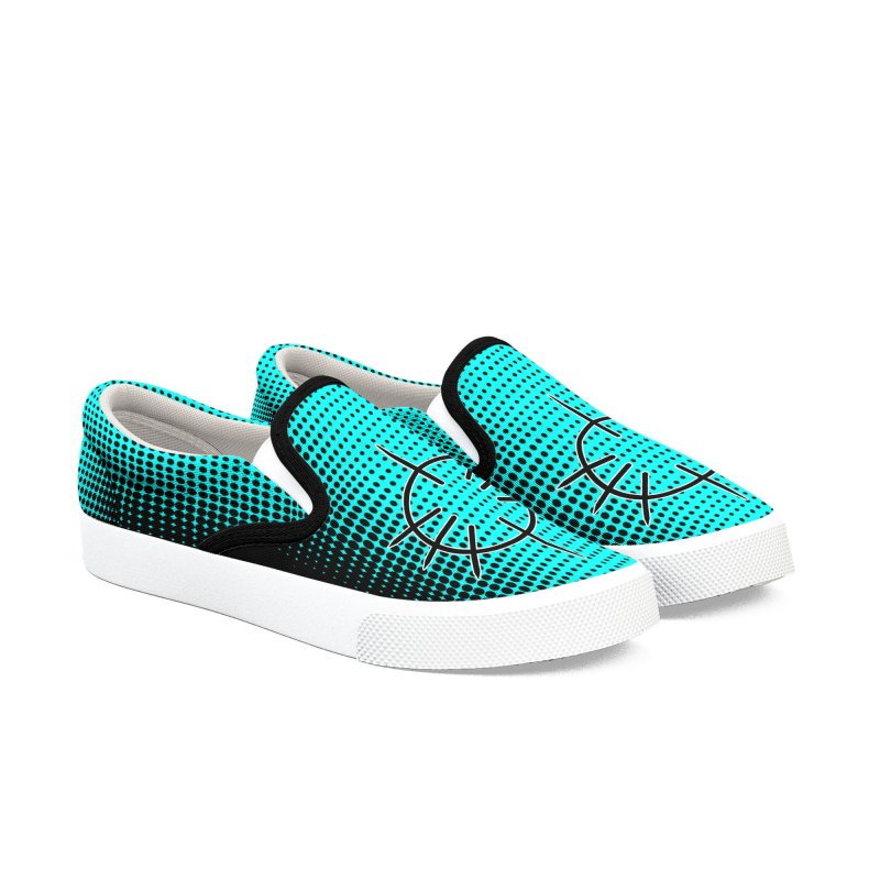 Center Drum - Blue Men's Slip-On Shoes by Shawnee Rising Studios