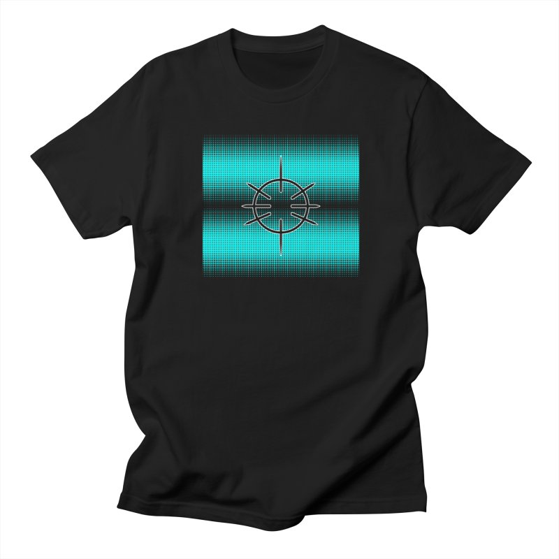 Center Drum - Blue Men's Regular T-Shirt by Shawnee Rising Studios