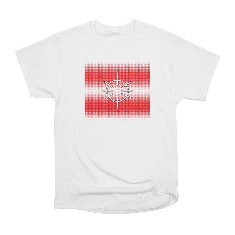 Center Drum - Red Women's Heavyweight Unisex T-Shirt by Shawnee Rising Studios