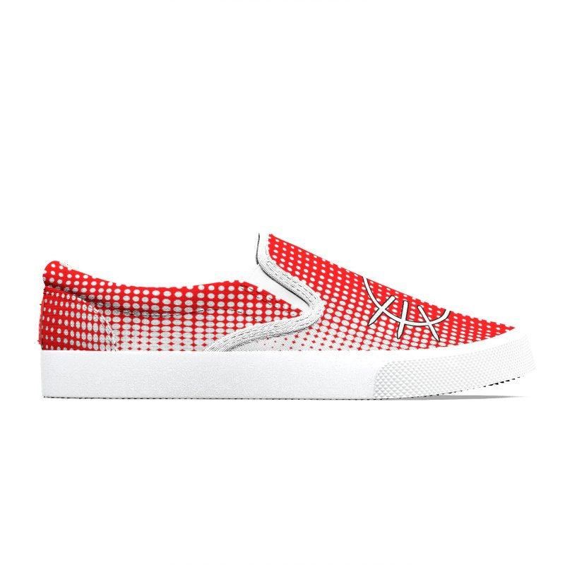 Center Drum - Red Men's Shoes by Shawnee Rising Studios