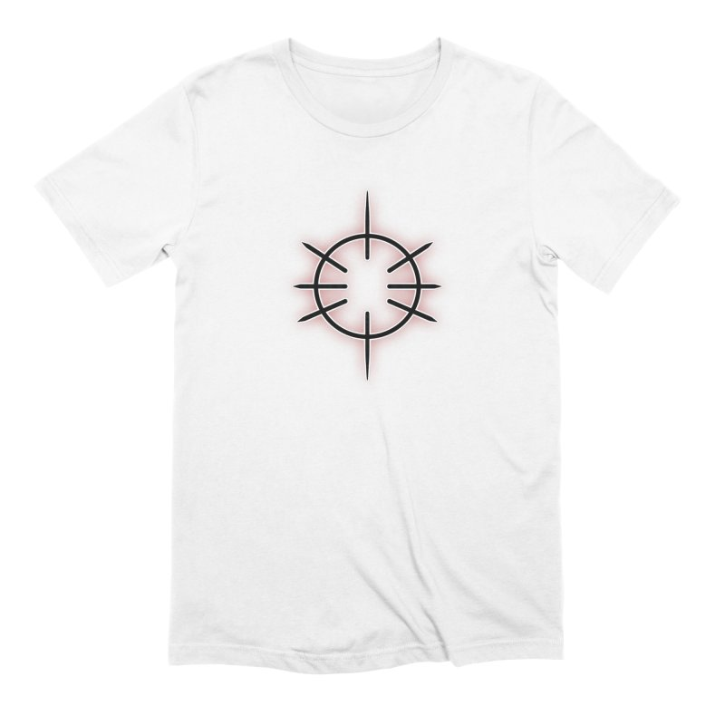 Center Drum in Men's Extra Soft T-Shirt White by Shawnee Rising Studios