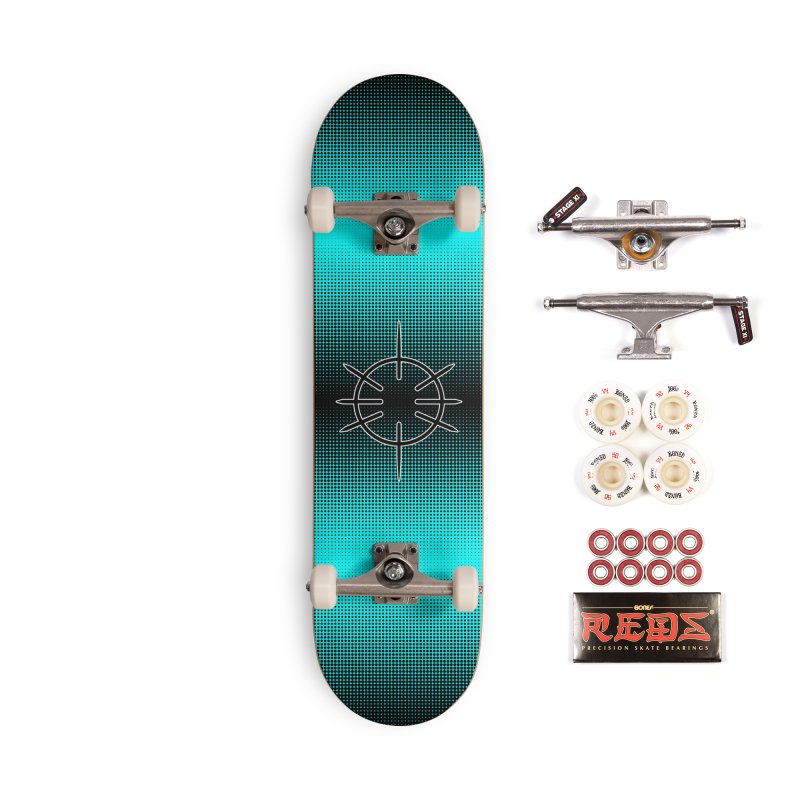 Center Drum - Blue -  Skateboard Accessories Complete - Pro Skateboard by Shawnee Rising Studios
