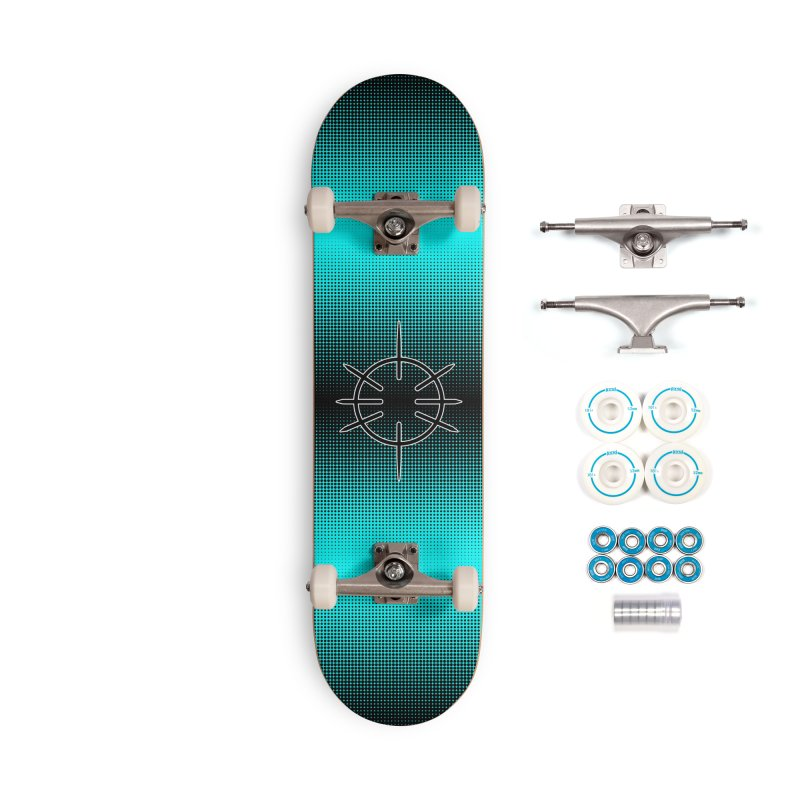 Center Drum - Blue -  Skateboard Accessories Complete - Basic Skateboard by Shawnee Rising Studios