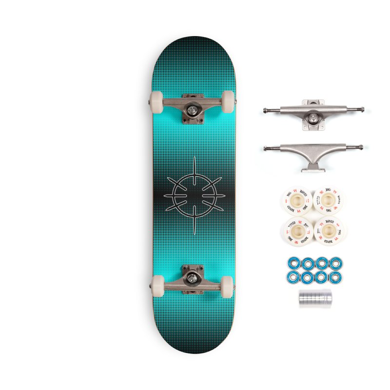 Center Drum - Blue -  Skateboard Accessories Complete - Premium Skateboard by Shawnee Rising Studios