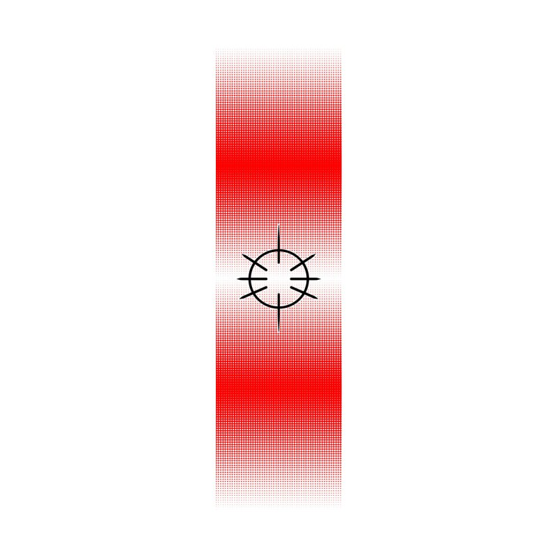 Center Drum - Red - Skateboard by Shawnee Rising Studios