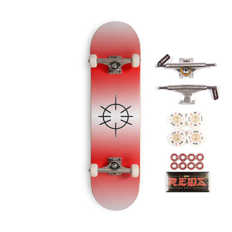 Center Drum - Red - Skateboard Accessories Complete - Pro Skateboard by Shawnee Rising Studios