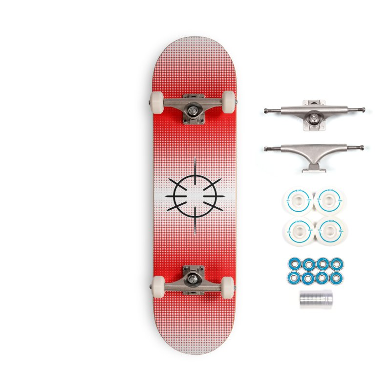 Center Drum - Red - Skateboard Accessories Complete - Basic Skateboard by Shawnee Rising Studios