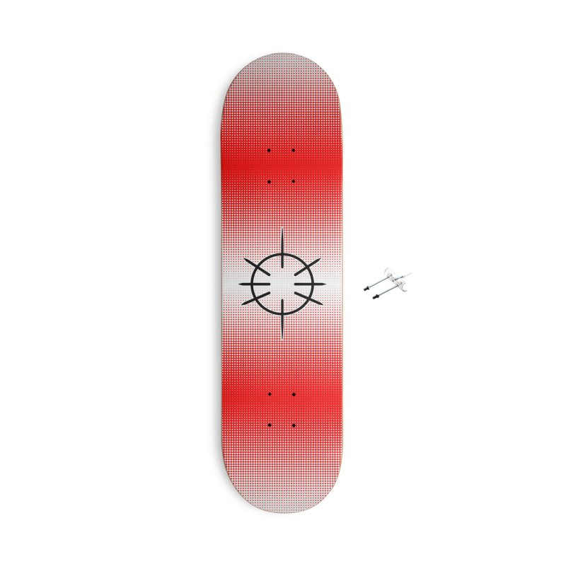 Center Drum - Red - Skateboard Accessories With Hanging Hardware Skateboard by Shawnee Rising Studios
