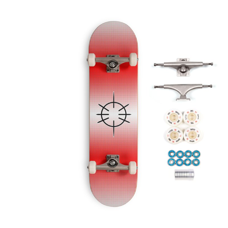 Center Drum - Red - Skateboard Accessories Complete - Premium Skateboard by Shawnee Rising Studios