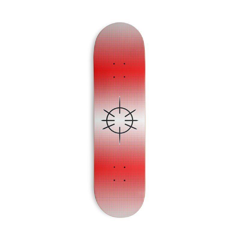 Center Drum - Red - Skateboard Accessories Deck Only Skateboard by Shawnee Rising Studios