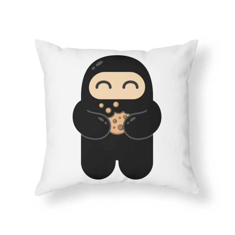 Cookie Ninja Home Throw Pillow by Shawnimals