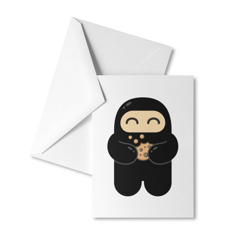 Cookie Ninja Accessories Greeting Card by Shawnimals