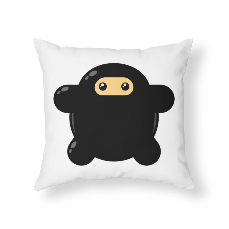 Notso Wee Ninja Home Throw Pillow by Shawnimals