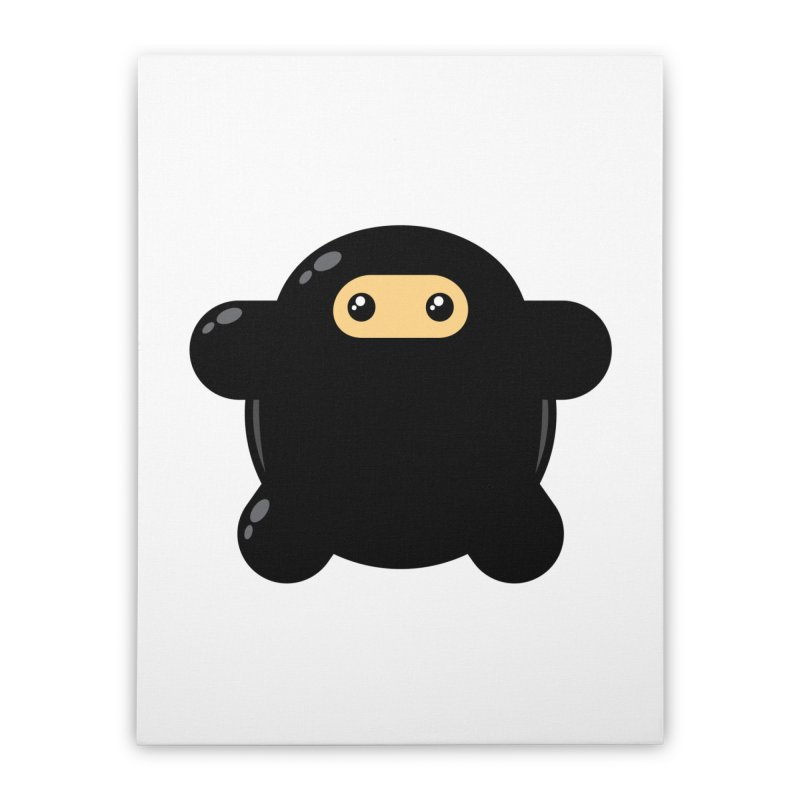 Notso Wee Ninja Home Stretched Canvas by Shawnimals