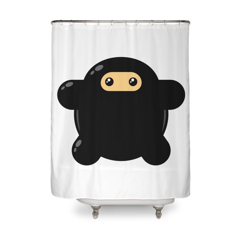 Notso Wee Ninja Home Shower Curtain by Shawnimals