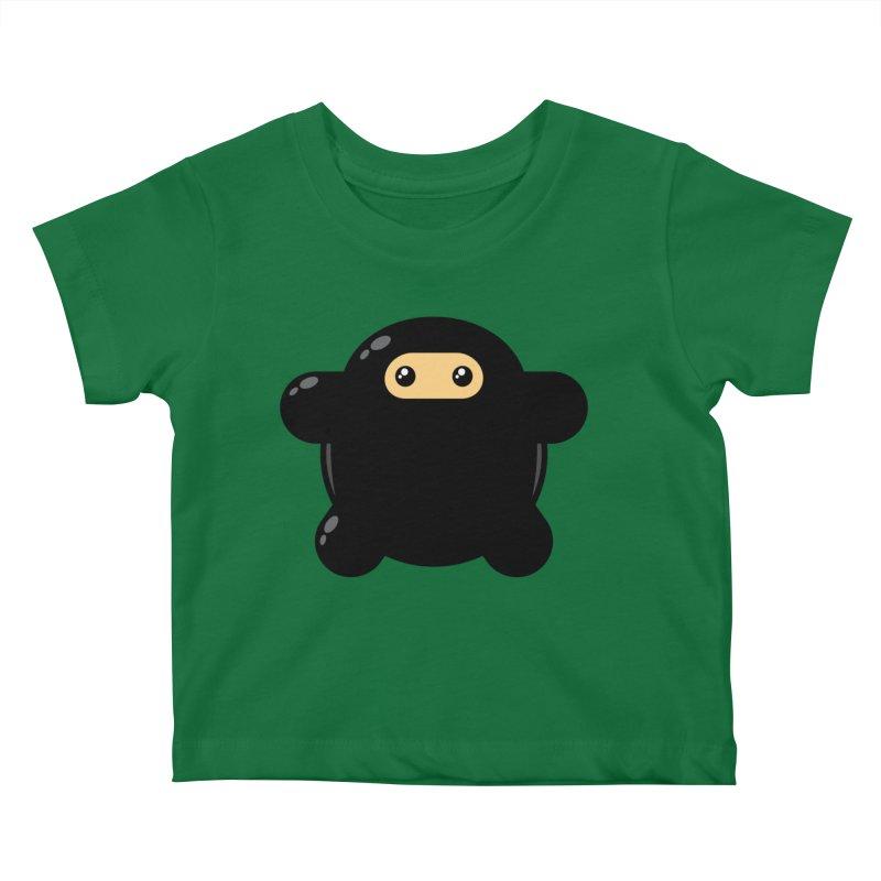 Notso Wee Ninja Kiddos Baby T-Shirt by Shawnimals