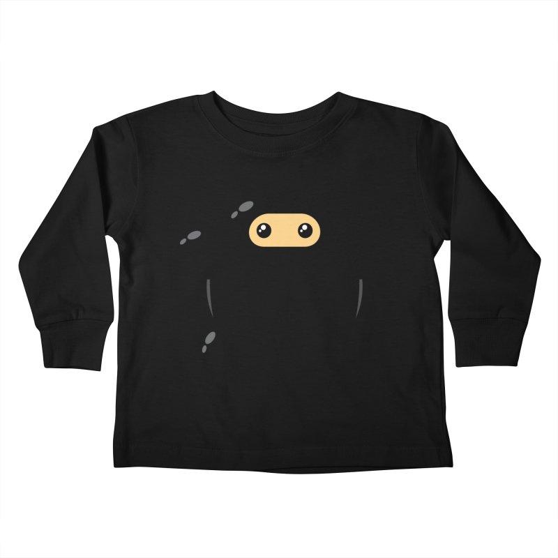 Notso Wee Ninja Kiddos Toddler Longsleeve T-Shirt by Shawnimals