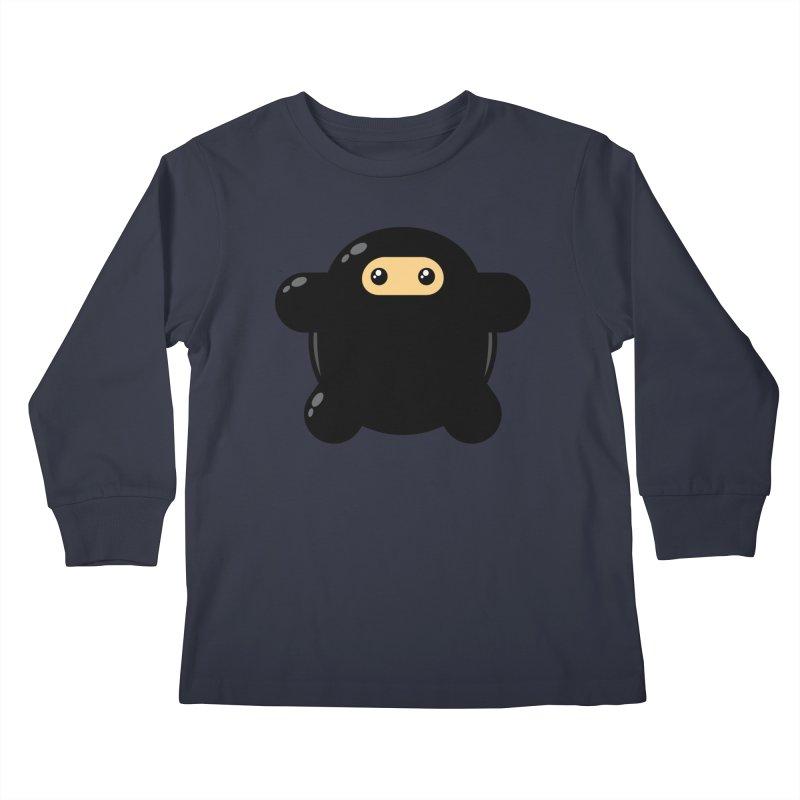Notso Wee Ninja Kiddos Longsleeve T-Shirt by Shawnimals