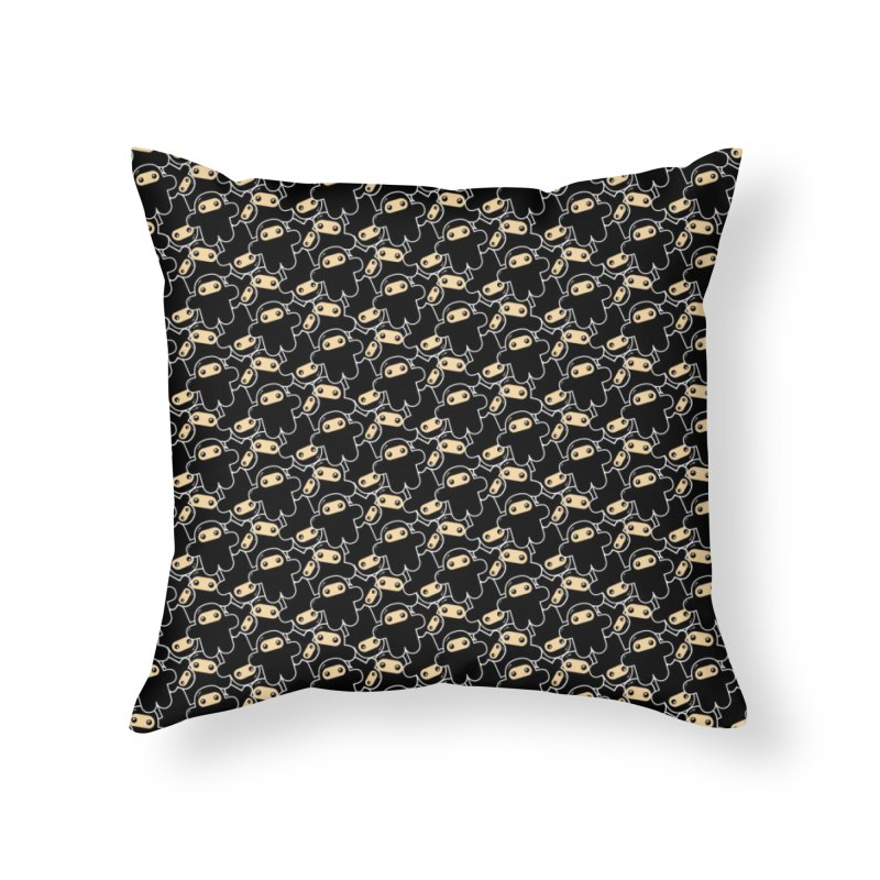 Ninjas On Repeat Home Throw Pillow by Shawnimals
