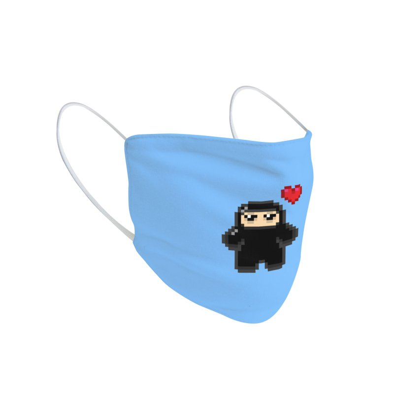 Pixel Ninja Love Accessories Face Mask by Shawnimals