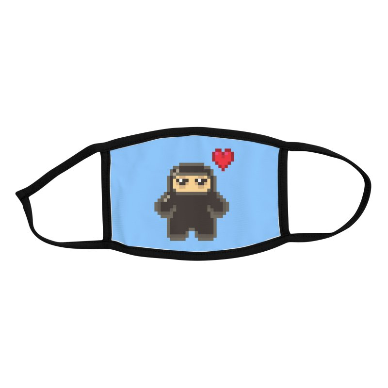 Pixel Ninja Love Accessories Face Mask by Shawnimals