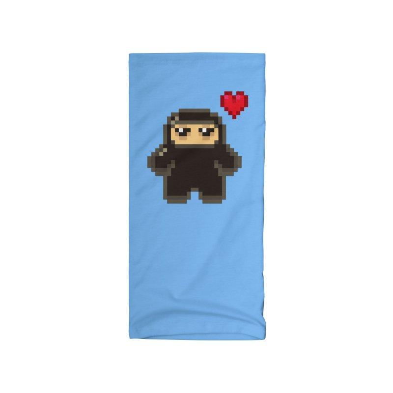 Pixel Ninja Love Accessories Neck Gaiter by Shawnimals