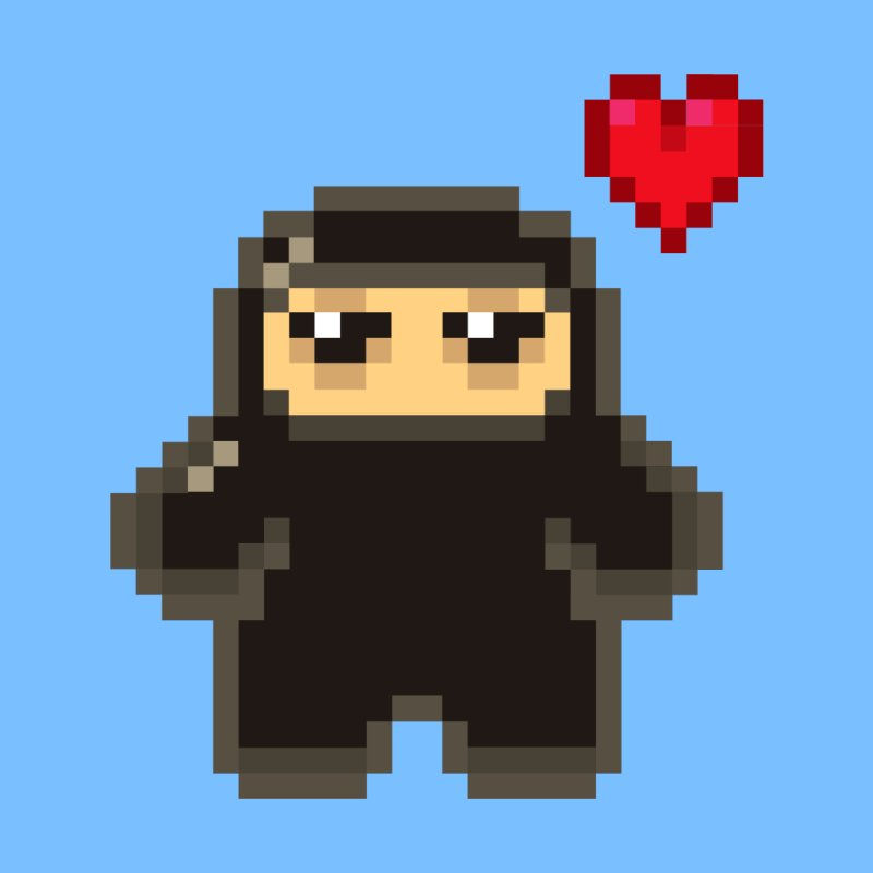 Pixel Ninja Love Accessories Magnet by Shawnimals