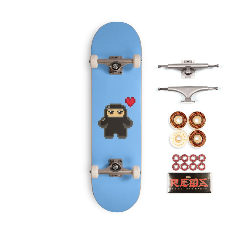 Pixel Ninja Love Accessories Skateboard by Shawnimals