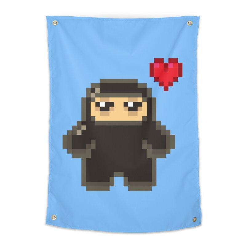 Pixel Ninja Love Home Tapestry by Shawnimals