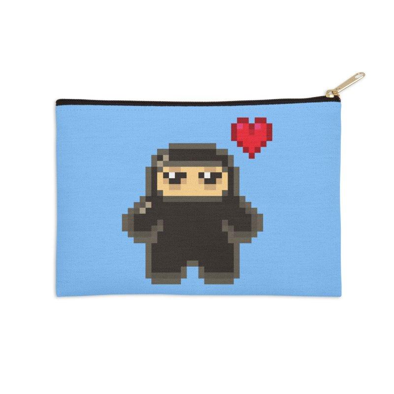Pixel Ninja Love Accessories Zip Pouch by Shawnimals
