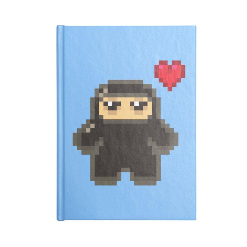 Pixel Ninja Love Accessories Notebook by Shawnimals
