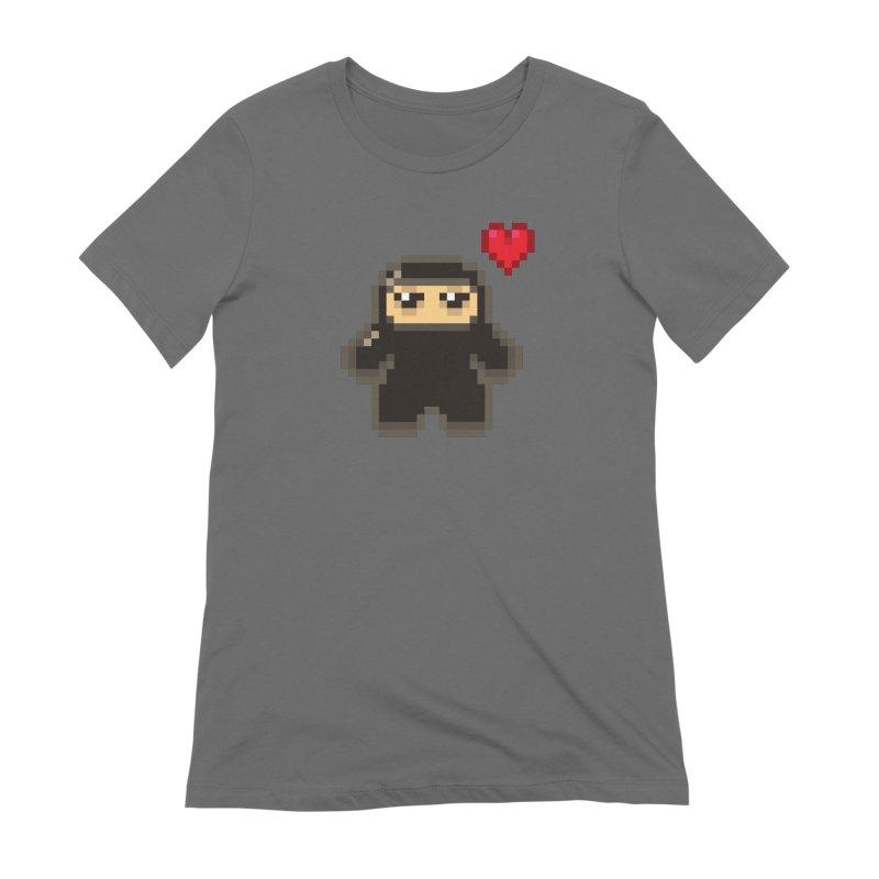 Pixel Ninja Love Feminine T-Shirt by Shawnimals