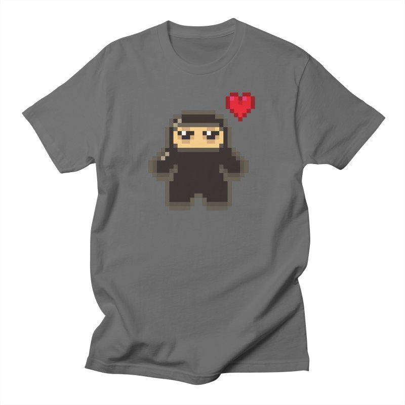 Pixel Ninja Love Masculine T-Shirt by Shawnimals