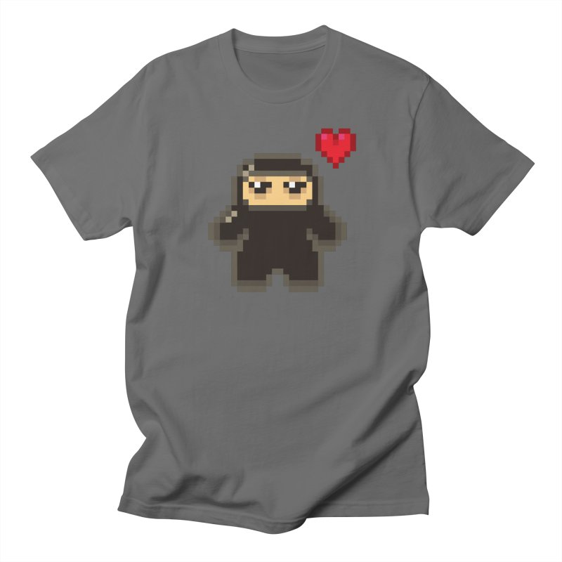 Pixel Ninja Love Masculine T-Shirt by Shawnimals
