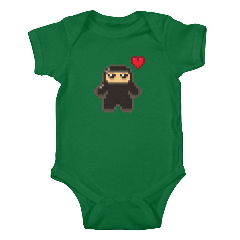 Pixel Ninja Love Kiddos Baby Bodysuit by Shawnimals