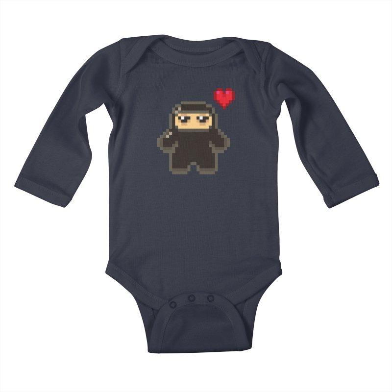 Pixel Ninja Love Kiddos Baby Longsleeve Bodysuit by Shawnimals