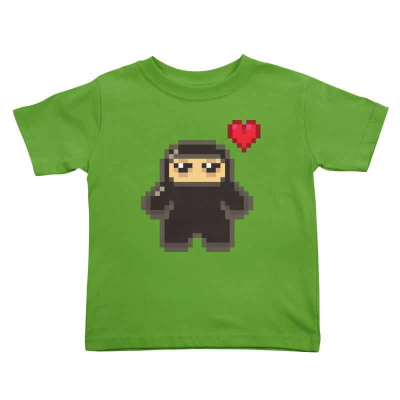Pixel Ninja Love Kiddos Toddler T-Shirt by Shawnimals