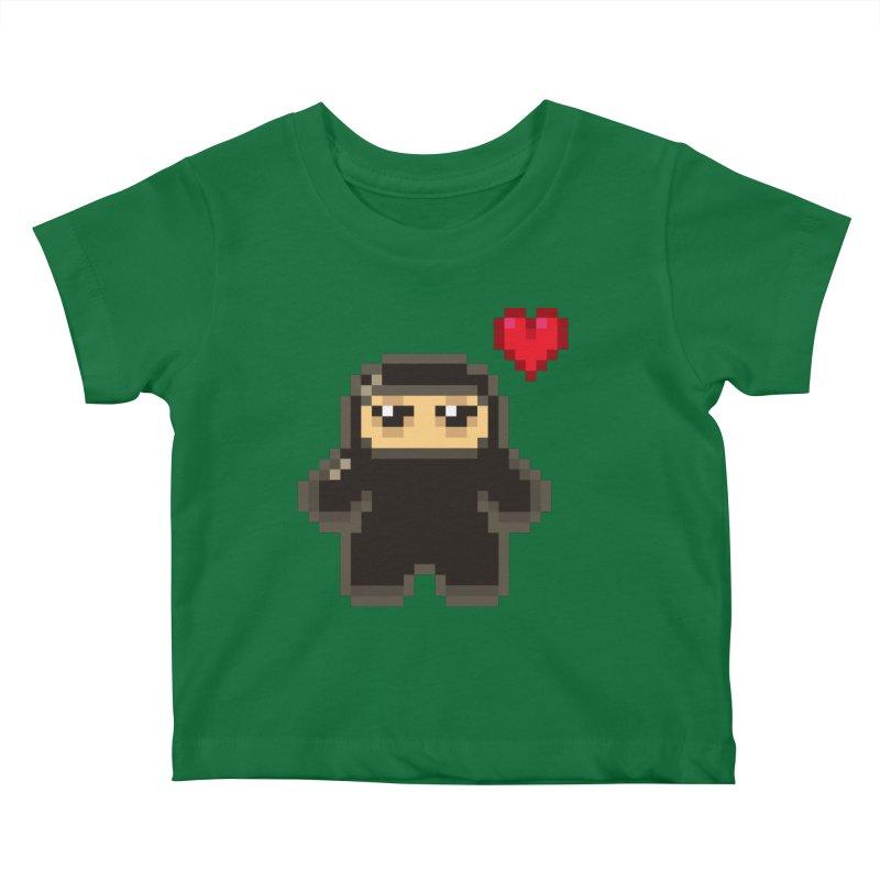 Pixel Ninja Love Kiddos Baby T-Shirt by Shawnimals