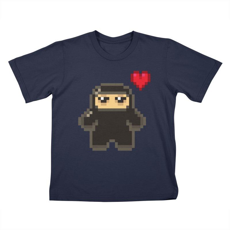 Pixel Ninja Love Kiddos T-Shirt by Shawnimals
