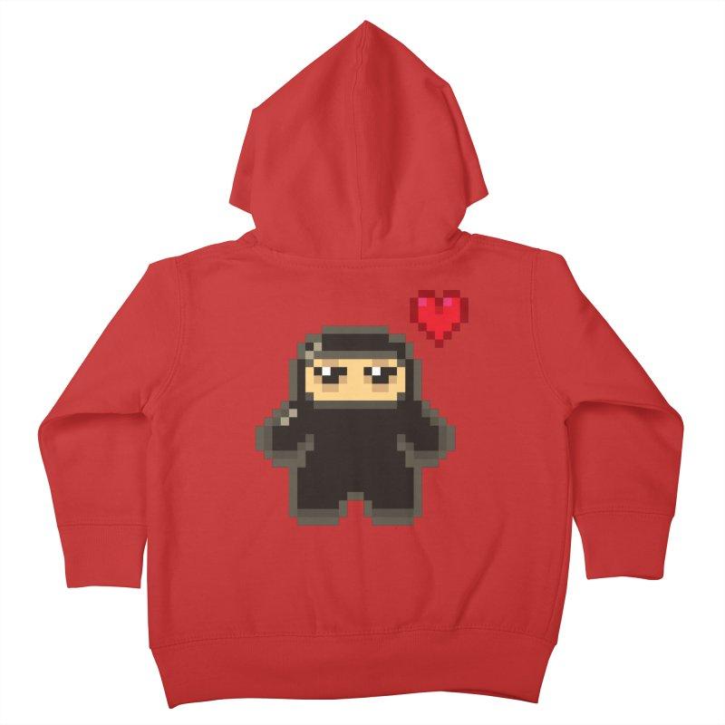 Pixel Ninja Love Kiddos Toddler Zip-Up Hoody by Shawnimals