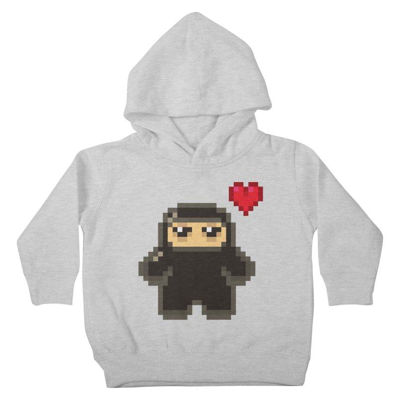 Pixel Ninja Love Kiddos Toddler Pullover Hoody by Shawnimals