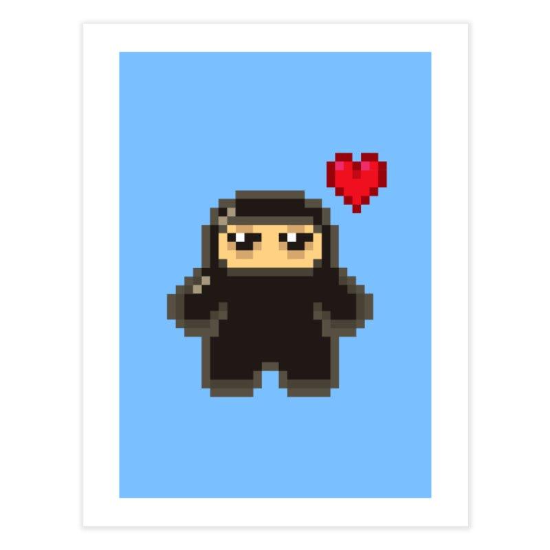 Pixel Ninja Love Home Fine Art Print by Shawnimals