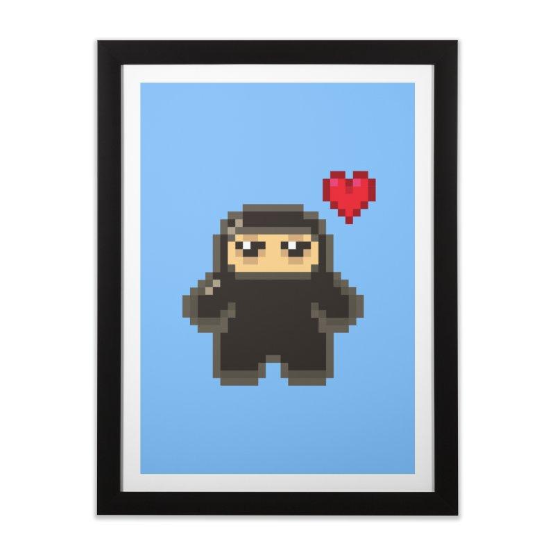 Pixel Ninja Love Home Framed Fine Art Print by Shawnimals