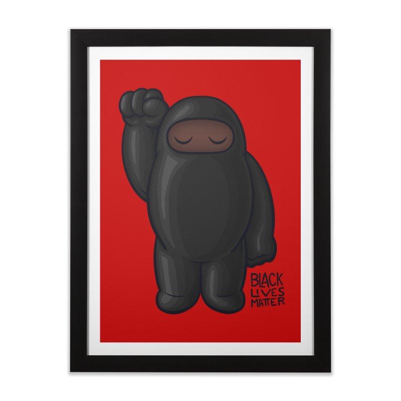 Black Lives Matter Home Framed Fine Art Print by Shawnimals