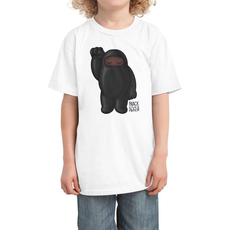 Black Lives Matter Kids T-Shirt by Shawnimals