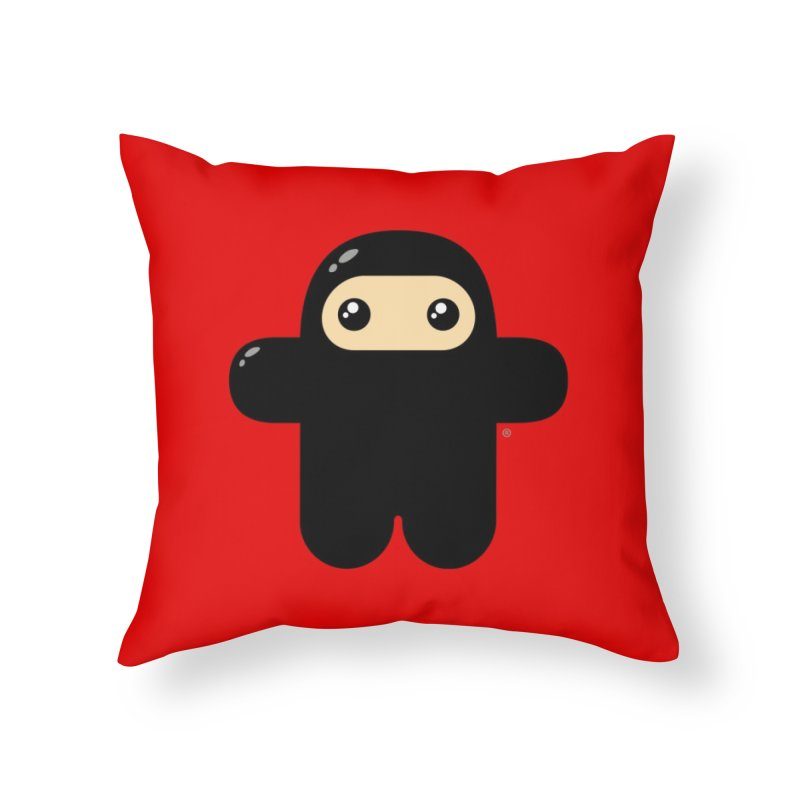 Original Wee Ninja Home Throw Pillow by Shawnimals