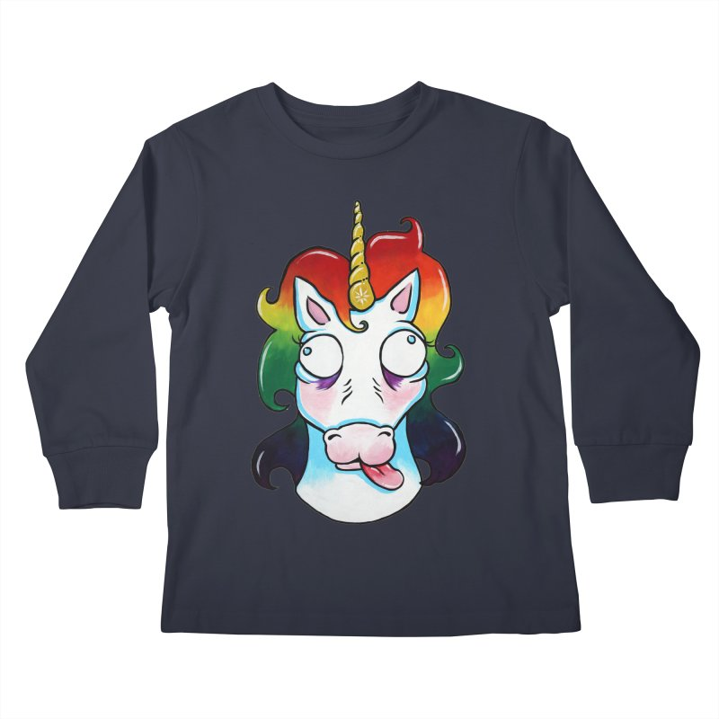 Gooficorn Kids Longsleeve T-Shirt by Shay MacMorran's Artist Shop